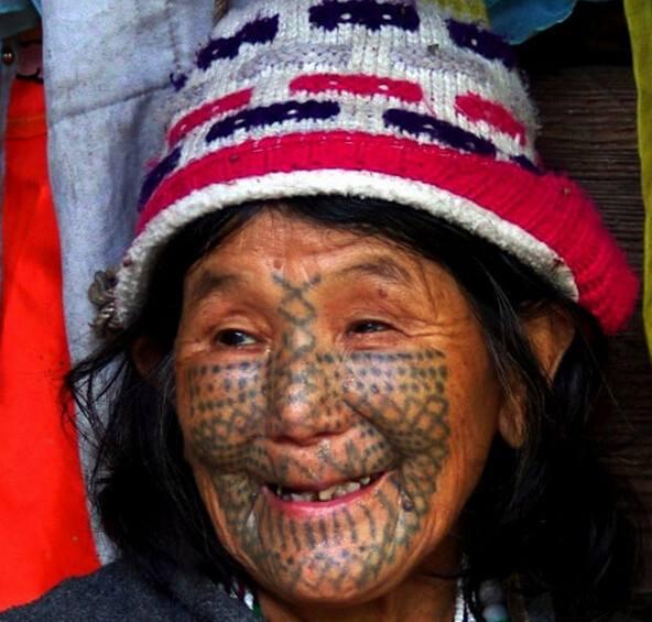 Китайский тату у национальных меньшинств  - тату народности 大邑