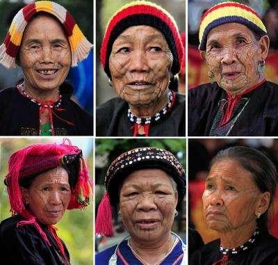 Традиционные китайские тату - народность 黎族