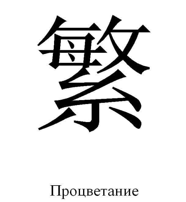 """Китайский иероглиф для татуировки - 繁 """"процветание"""""""