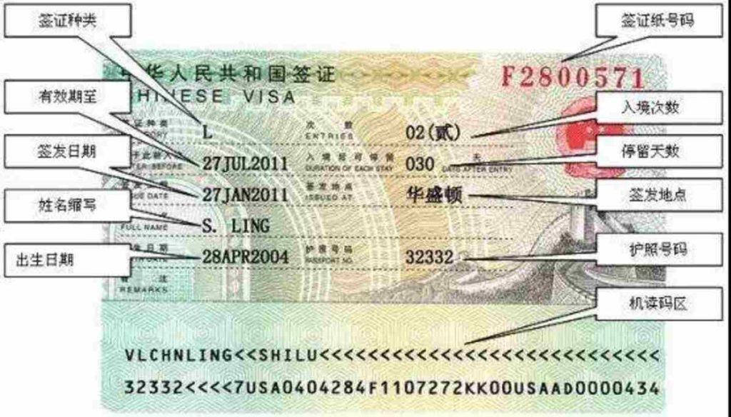 китайские визы